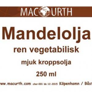 Kallpressad mandelolja 250ml – MacUrth
