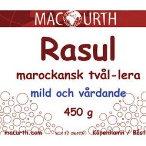 Rasul tvål-lera 450g – MacUrth